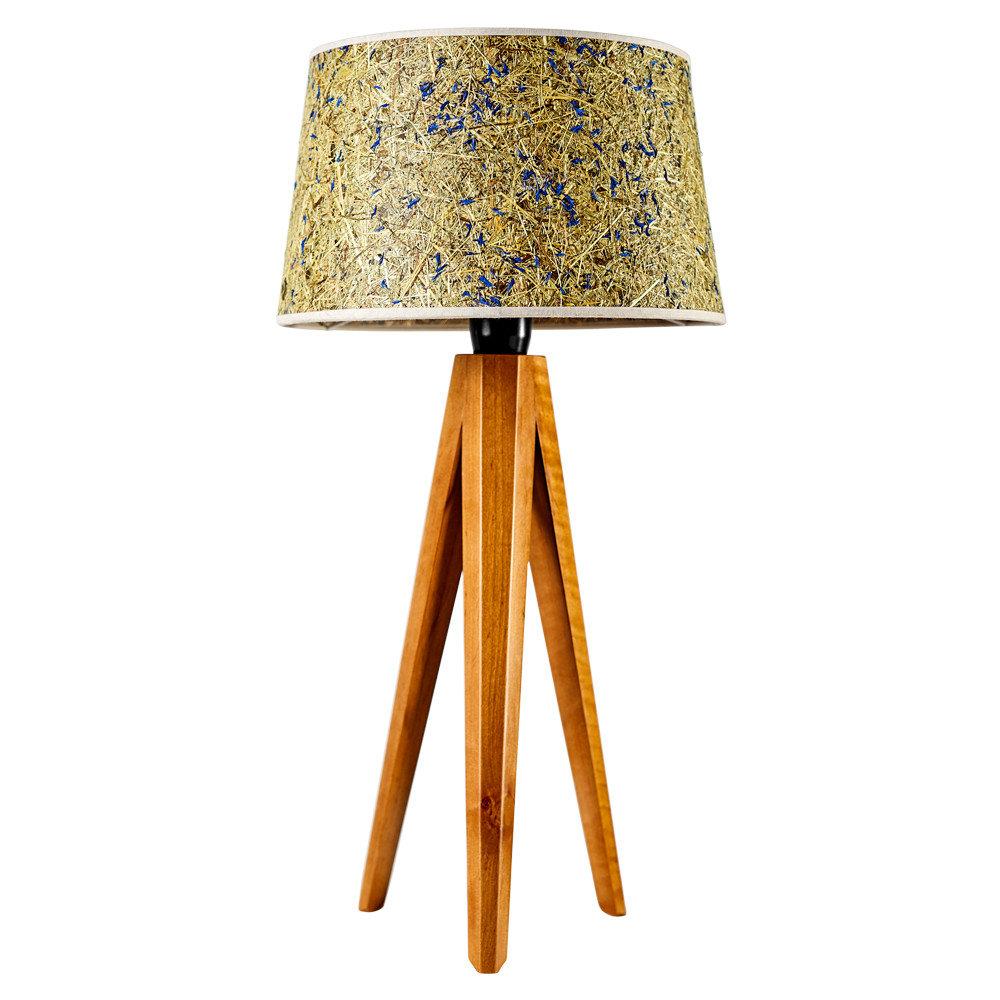 LIGNA – Tischleuchte Holzfuß Almheu