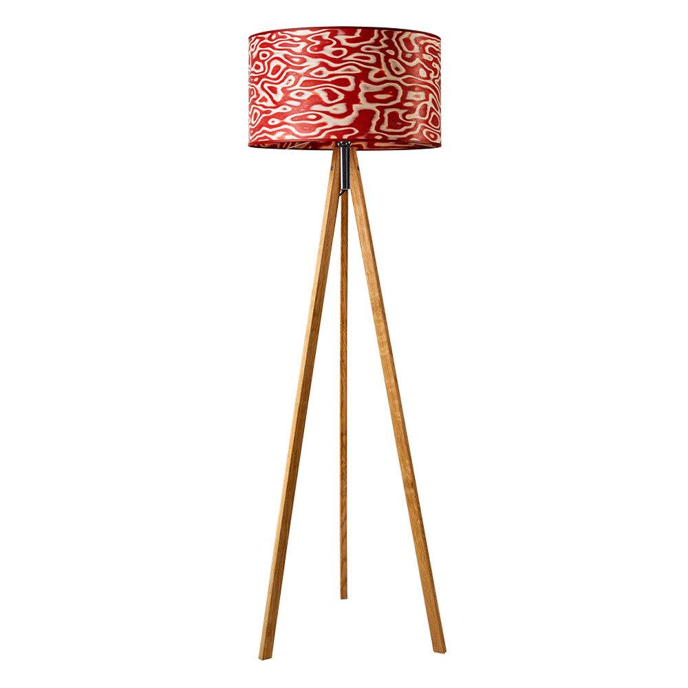 Ligno – Stehleuchte Tripod Rosso