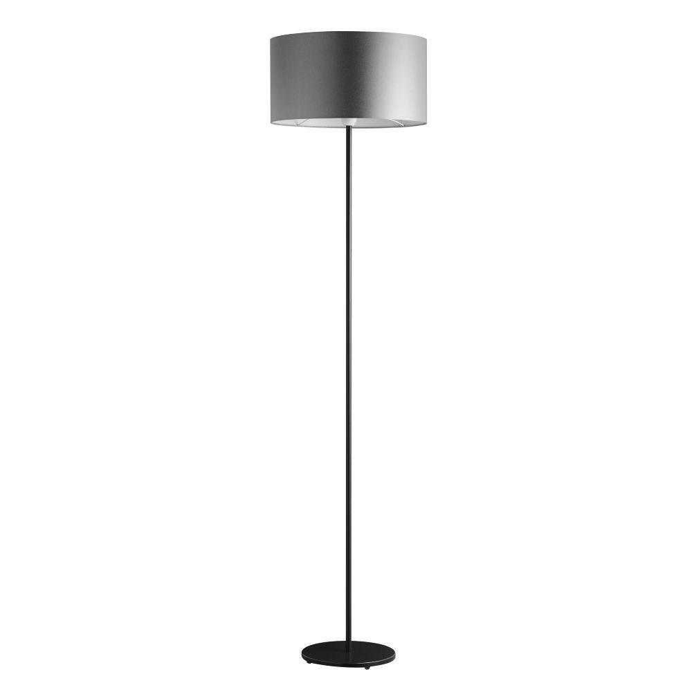 Stehlampe Bodenlampe Metall scharz Schirm grau – SI-EL-BI-3