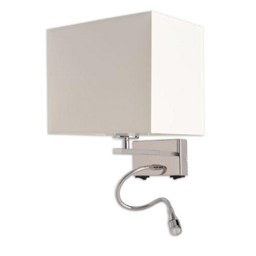 SI EL LU 1 500x500 - Wandleuchte mit LED Leselampe Schirm creme – SI-EL-LU-1