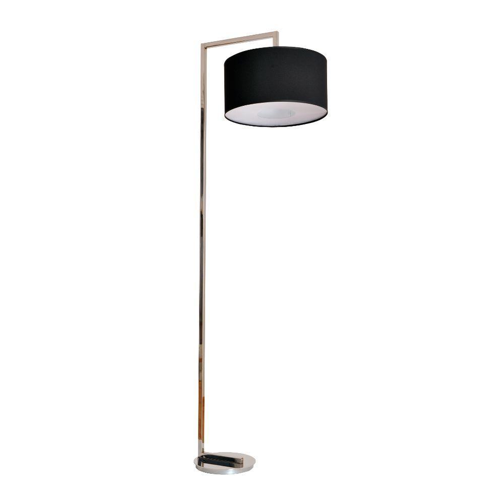 Stehlampe Edelstahl Schirm schwarz – SI-EL-NI-3