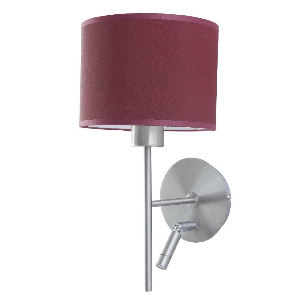 Wandlampe Edelstahl matt mit LED Lesearm Schirm – SI-EL-PR-2