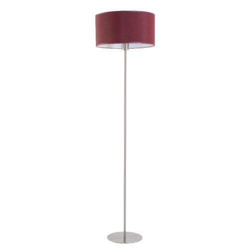 Bodenlampe Edelstahl matt mit Schirm D 40 cm – SI-EL-PR-4