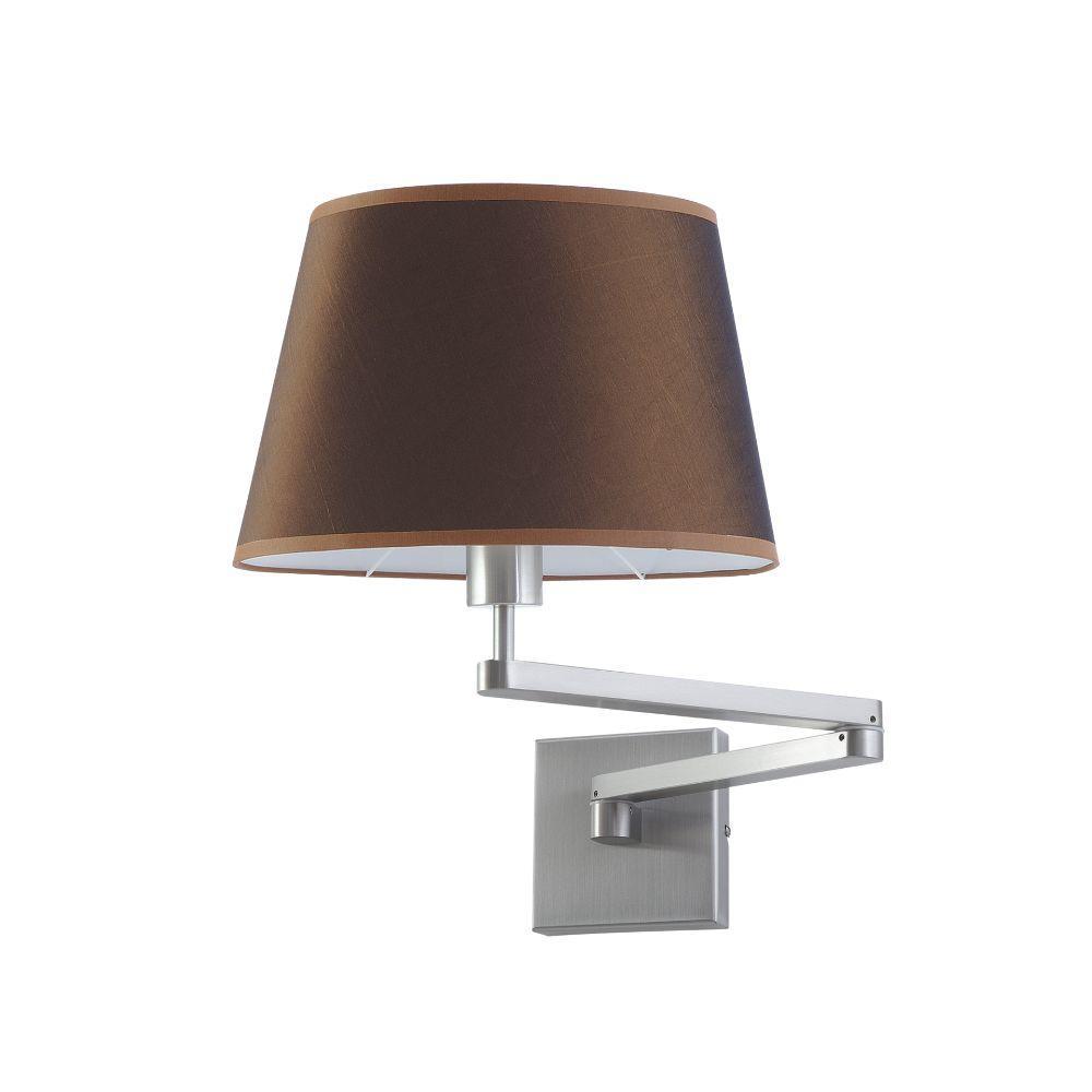 Wandlampe mit Schwenkarm Edelstahl matt Schirm – SI-EL-SW-1