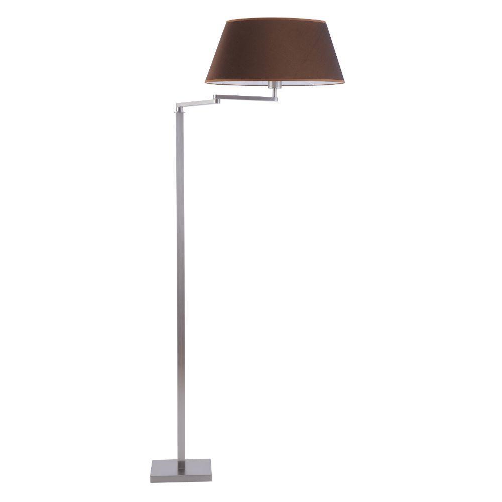 Bodenlampe mit Schwenkarm Edelstahl matt Schirm Oval – SI-EL-SW-3