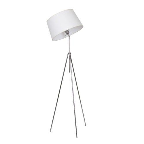 Bodenlampe Tripod höhenverstellbar Kippgelenk Edelstahl Schirm – SI-EL-VI-2