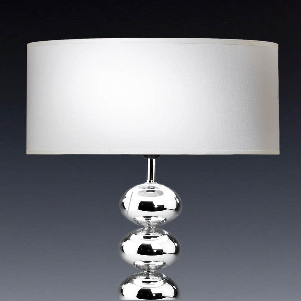 Lampenschirm rund Stoff weiß/rot/creme/schwarz 60 x 20 cm