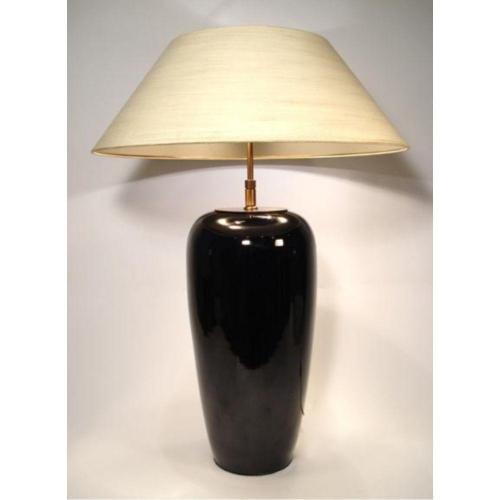 Lampenfuß 2-flammigDeckelvase schwarz – SI 199