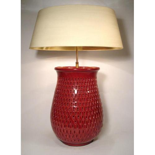 Lampenfuß 2-flammigVase ochsenblutrot – SI-298