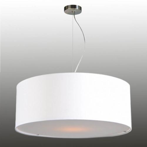 deckenleuchte pendelleuchte 58cm weiss 500x500 - Pendelleuchte Lampenschirm mit Drahtseilabhängung Stoff 58/20 cm