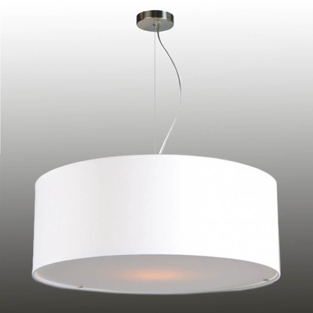 Pendelleuchte Lampenschirm mit Drahtseilabhängung Stoff 58/20 cm