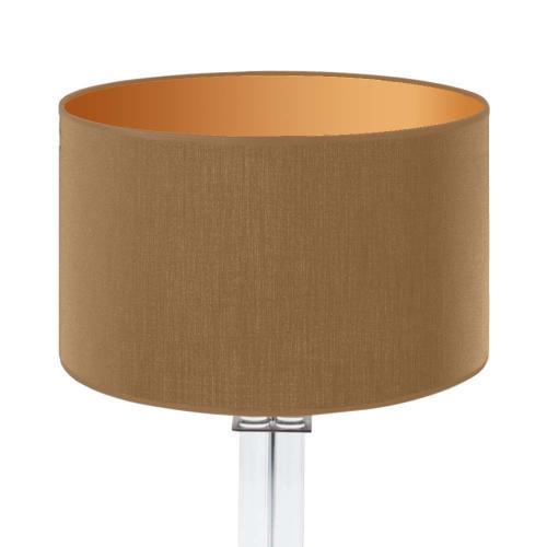lampenschirm caramel innengold 35x20cm baumwolle 1 500x500 - Lampenschirme in versch. Farben 40 x 20 cm Baumwolle und Seide