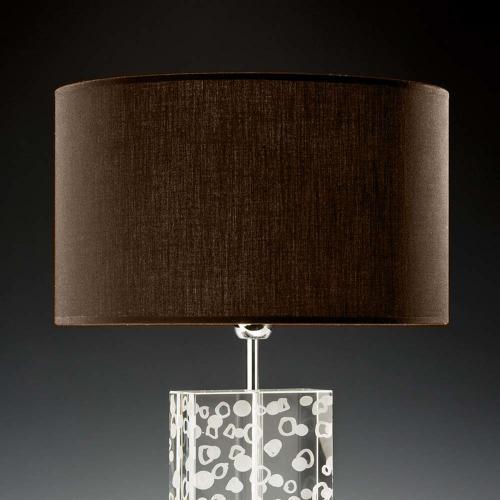 lampenschirm dunkelbraun 2 35x20cm baumwolle 500x500 - Lampenschirme in versch. Farben 40 x 20 cm Baumwolle und Seide