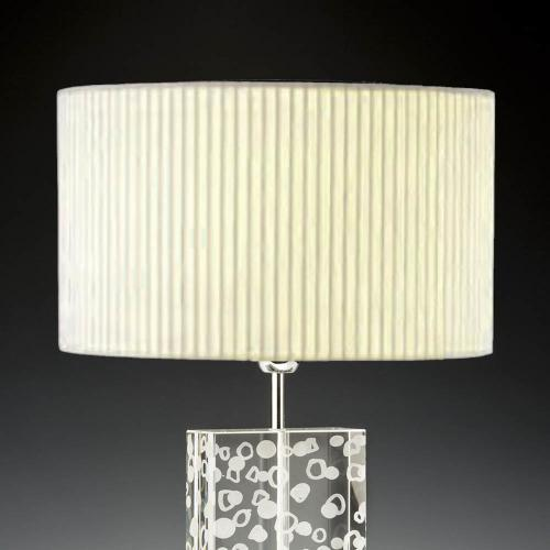 lampenschirm rund creme stoff plissee 40cm 20cm 500x500 - Lampenschirme in versch. Farben 40 x 20 cm Baumwolle und Seide