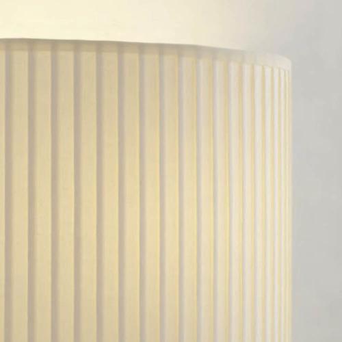 lampenschirm rund creme stoff plissiert 40cm 20cm 500x500 - Lampenschirme in versch. Farben 40 x 20 cm Baumwolle und Seide