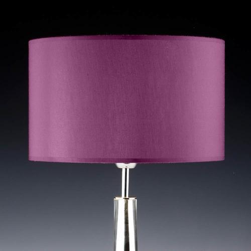 lampenschirm rund lila flieder 35x20cm seide 500x500 - Lampenschirme in versch. Farben 40 x 20 cm Baumwolle und Seide