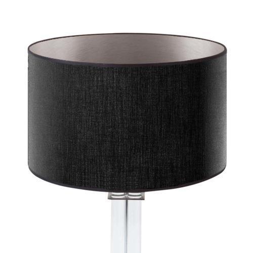 lampenschirm schwarz innen silber rund 35cm stoff 500x500 - Lampenschirme in versch. Farben 40 x 20 cm Baumwolle und Seide