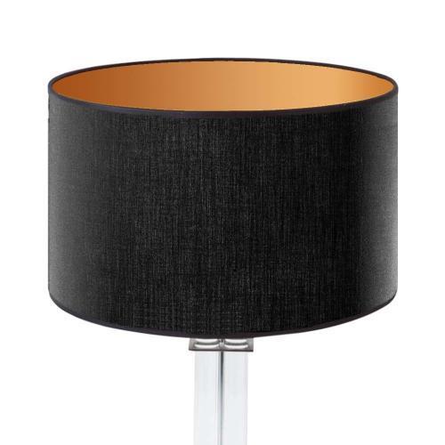lampenschirm schwarz innengold 35x20cm baumwolle1 500x500 - Lampenschirme in versch. Farben 40 x 20 cm Baumwolle und Seide