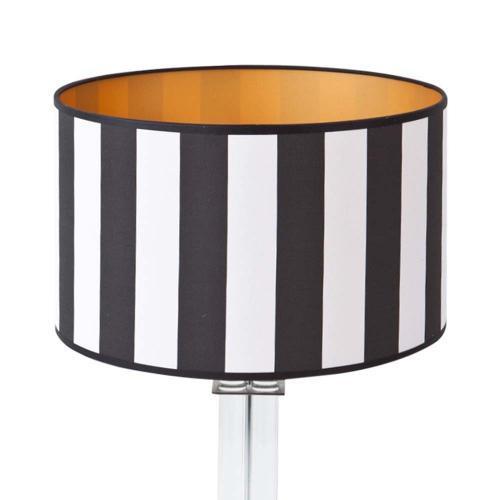 lampenschirm schwarzweigestreift 35x20cm baumwolle 500x500 - Lampenschirme in versch. Farben 40 x 20 cm Baumwolle und Seide