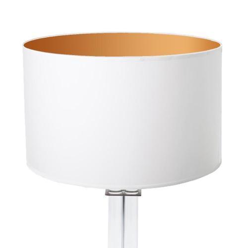 lampenschirm wei innen gold rund 35x20cm 500x500 - Lampenschirme in versch. Farben 40 x 20 cm Baumwolle und Seide