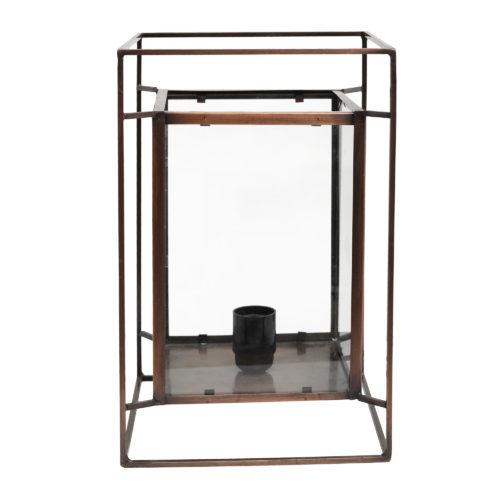 678712 1 500x500 - ZANE Tischleuchte antik Eisen mit Glas