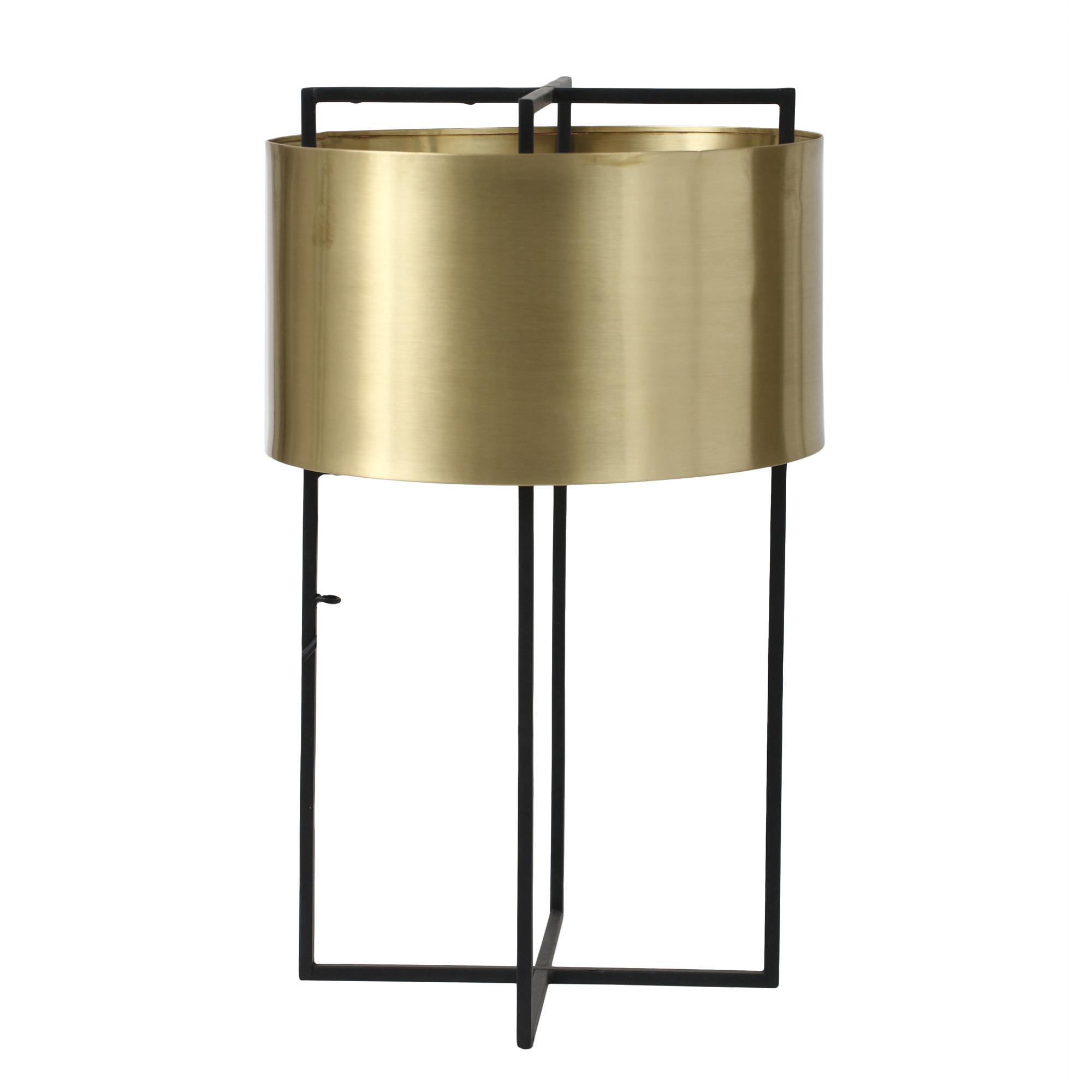 Tischleuchte modern Bronze mit Schirm