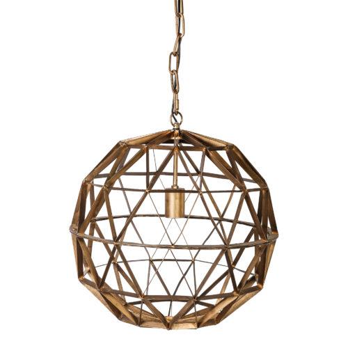 DENVER geometrische Design Kugel Gold