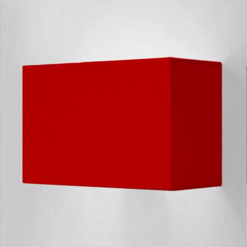 wandleuchte rot eckig 73008 simple 500x500 - Wandleuchte SIMPLE rechteckigem Lampenschirm