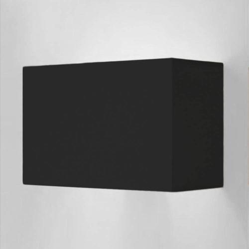 wandleuchte schwarz eckig 73008 simple 500x500 - Wandleuchte SIMPLE rechteckigem Lampenschirm