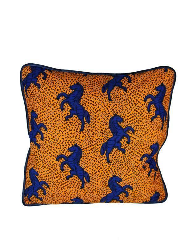Kissen orange Pferde AK-5050-PFOB