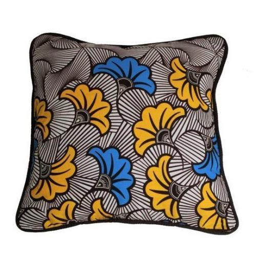 Kissen Blumen Afrikanisch - AK-4040-BLU