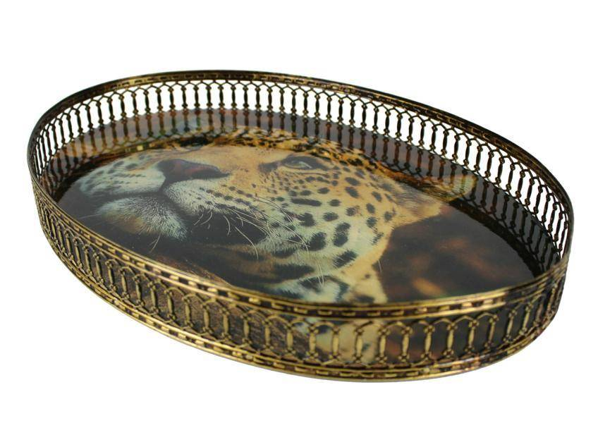 Tablett oval Leopard - FC-115-067 Signature