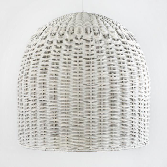 Große Korbleuchte - Pendelleuchte weiss 60x60x60