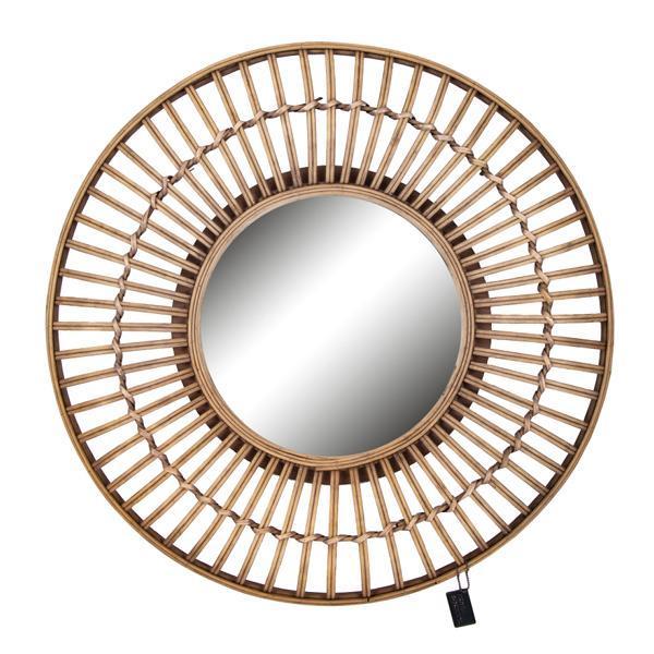 Spiegel rund HO-646050 Rattan 63 cm
