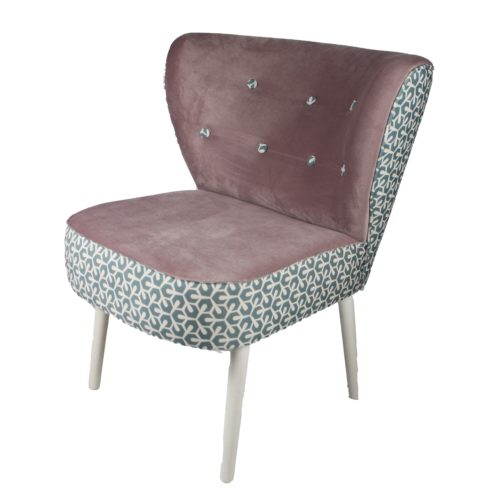 SIGNATURE HOME – Lounge Sessel mit Charakter Stoffkombi grün-gemustert