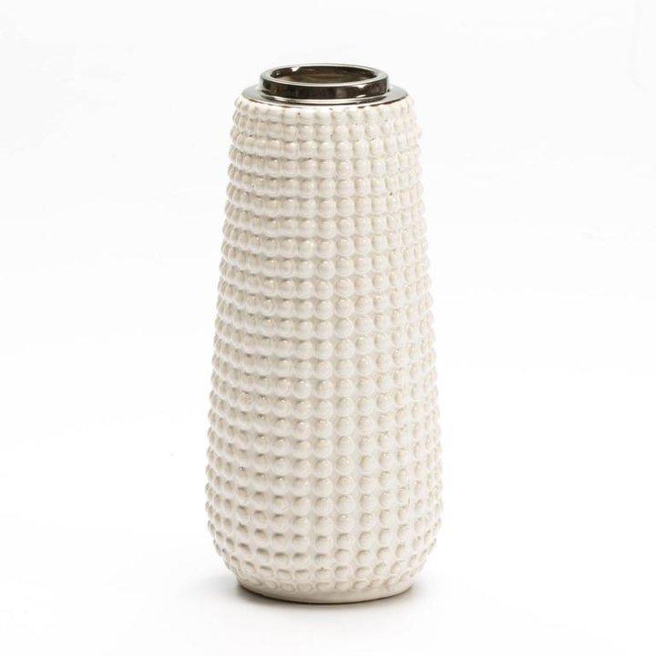 Thai Natura Vase Keramik weiss 2 Größen