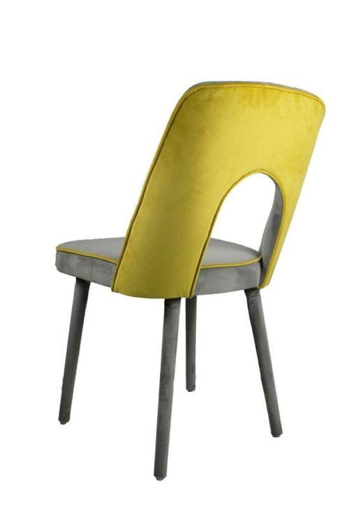 Stuhl SI-DA-AGT Rückenöffnung Samtoptik