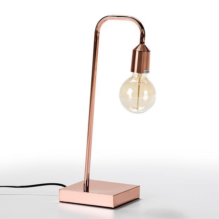 Thai Natura Schreibtischlampe AVOCA TN-62633/00 Metall kupferfarbig