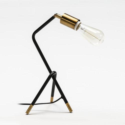Thai Natura Schreibtischlampe TN-62618/00 Metall schwarz gold