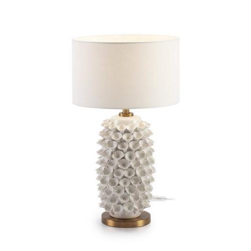 Thai Natura Tischlampe TN-22150/00 Keramik weiß