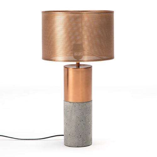 Thai Natura Tischlampe TN-40036/00 Beton Kupfer