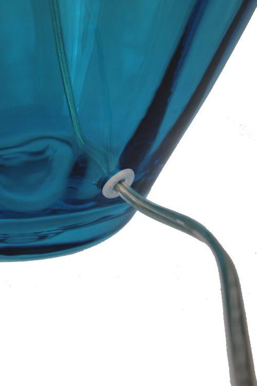 Mundgeblasene Glasleuchte Tischleute aquamarin SFL-BO-ABE