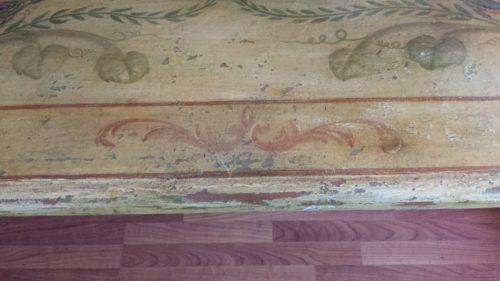 Einzigartiger Esstisch ca. 100 Jahre alt bemalt 260x110cm H76